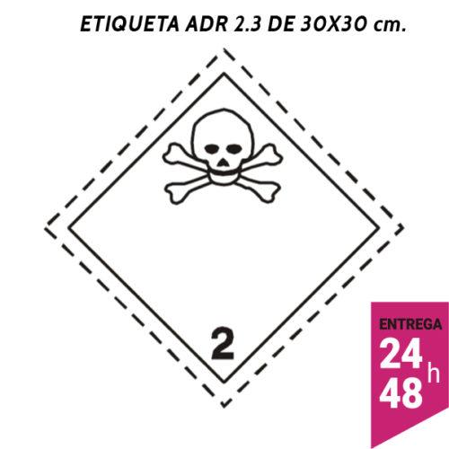 Etiqueta ADR 2 300x300 polipropileno blanco - transporte mercancías peligrosas - Etiqueting