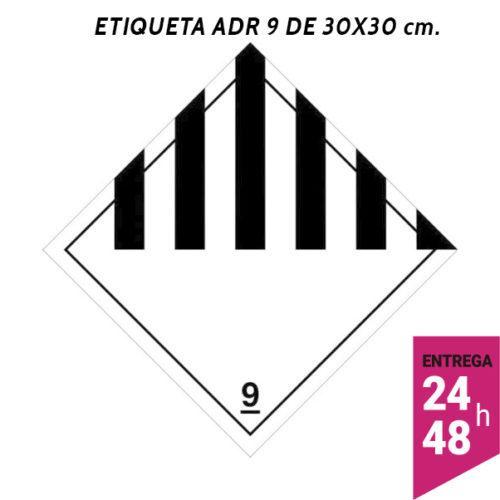 Etiqueta ADR 9 300x300 polipropileno blanco - transporte mercancías peligrosas - Etiqueting