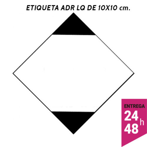 Etiqueta ADR LQ 100x100 polipropileno blanco - transporte mercancías peligrosas - Etiqueting