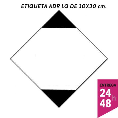 Etiqueta ADR LQ 300x300 polipropileno blanco - transporte mercancías peligrosas - Etiqueting