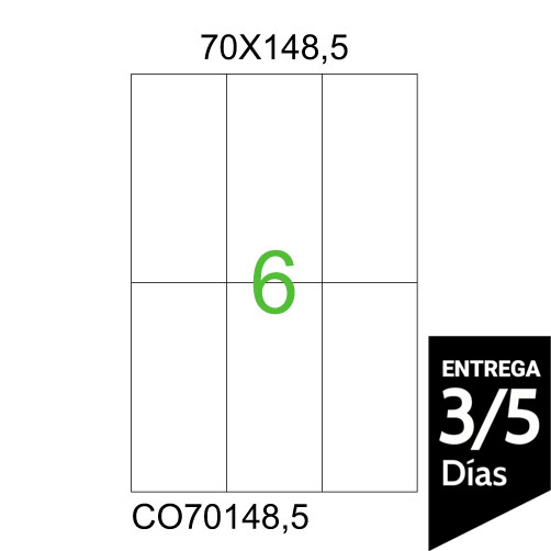 HOJA A4 70X148,5