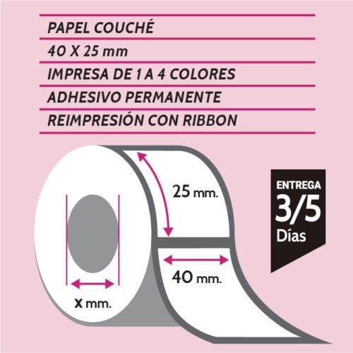 ETIQUETA IMPRESA COUCHE 40X25