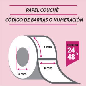 ETIQUETAS COUCHE CODIGO DE BARRAS O NUMERADAS