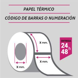 ETIQUETAS TERMICAS - CODIGO DE BARRAS O NUMERADAS