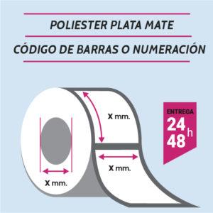 ETIQUETAS POLIESTER - CODIGO DE BARRAS O NUMERADAS