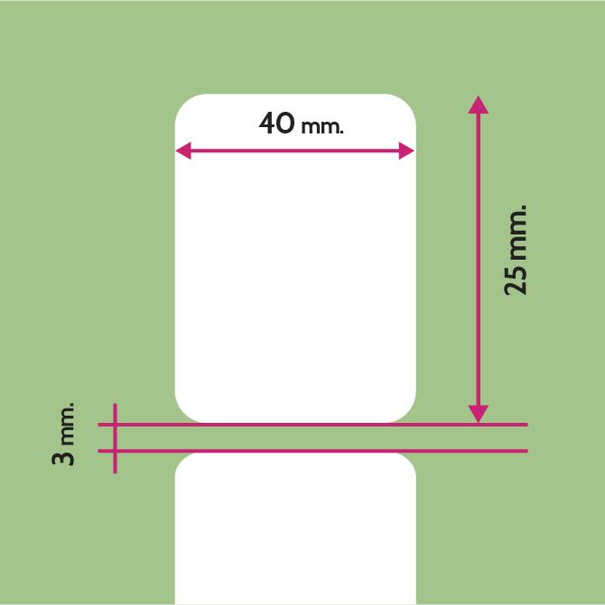 ETIQUETA PVC 40X25 mm