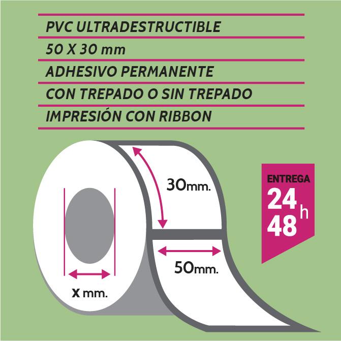 ETIQUETA PVC 50X30 mm