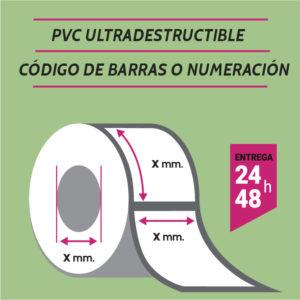 ETIQUETAS PVC - CODIGO DE BARRAS O NUMERADAS