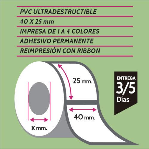 etiquetas de pvc 40x25