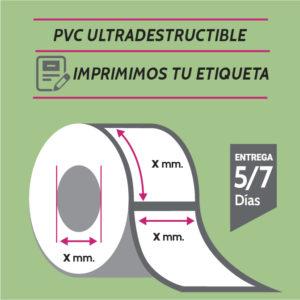 ETIQUETA PVC IMPRESA