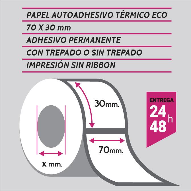 ETIQUETA TERMICA 70X30 mm