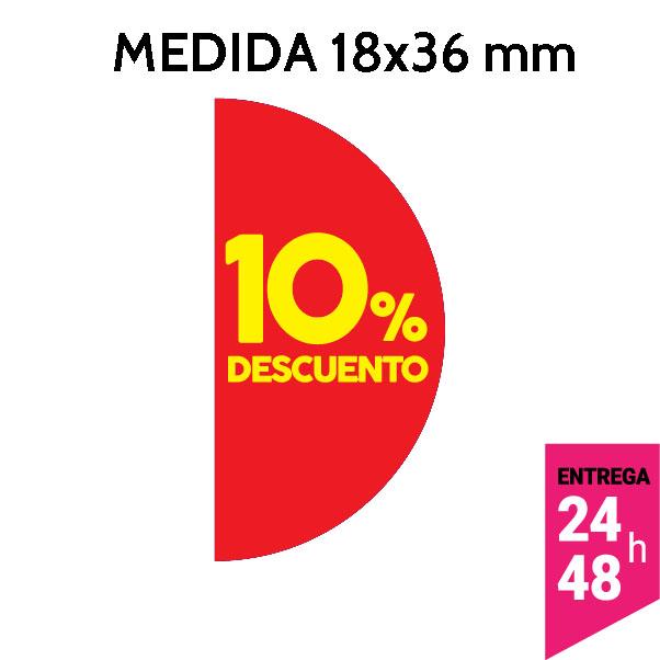 etiqueta 10% de descuento 18x36 mm - etiqueting
