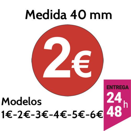 Etiquetas Oferta Precio 1€ 2€ 3€ 4€ 5€ 6€ - etiqueting