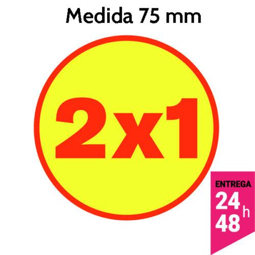 etiqueta 2x1 de 75 mm de diámetro - etiqueting