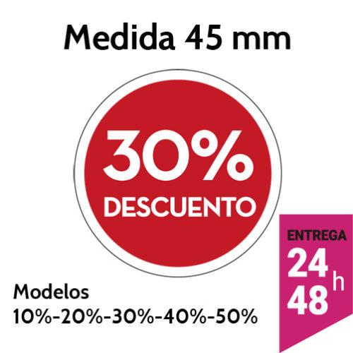 Etiqueta descuento 10% 20% 30% 40% 50% - Etiqueting