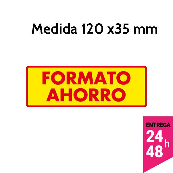 etiqueta formato ahorro 120x35 mm - etiqueting