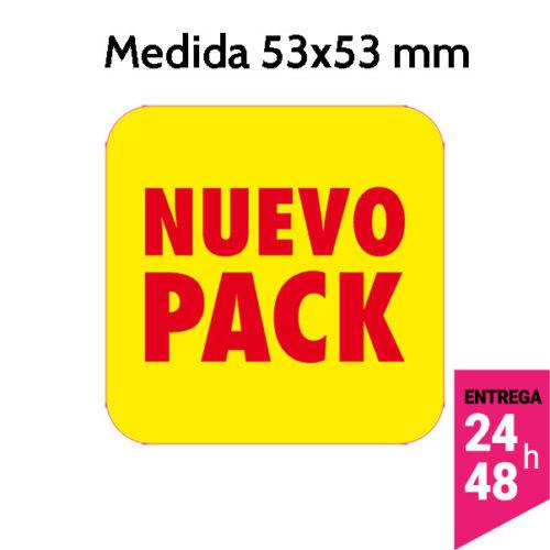 etiqueta nuevo pack de 53x53 mm - etiqueting