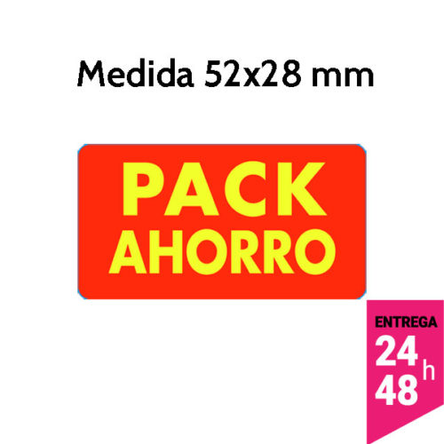 etiqueta pack ahorro de 52x28 mm - etiqueting