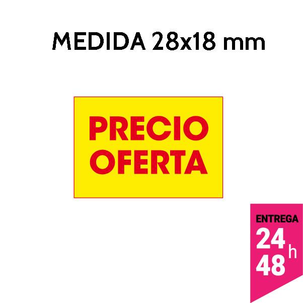 etiqueta precio oferta 28x18 mm - etiqueting