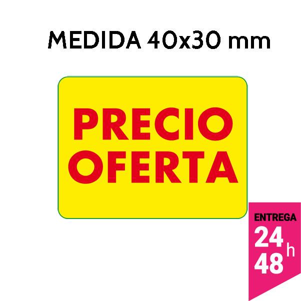 etiqueta precio oferta 40x30 mm - etiqueting