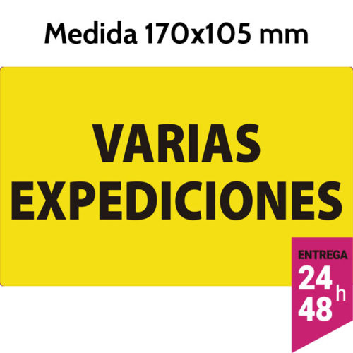 Etiqueta VARIAS EXPEDICIONES 170x105 mm - etiqueting