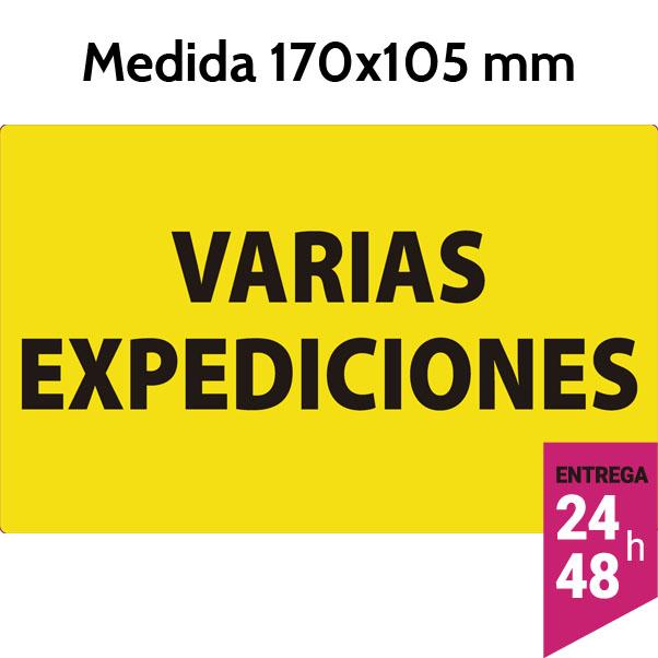 Etiqueta VARIAS EXPEDICIONES 170x105 mm - etiqueting