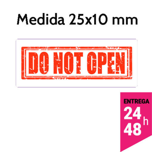 Etiqueta Seguridad DO NOT OPEN - Etiqueting