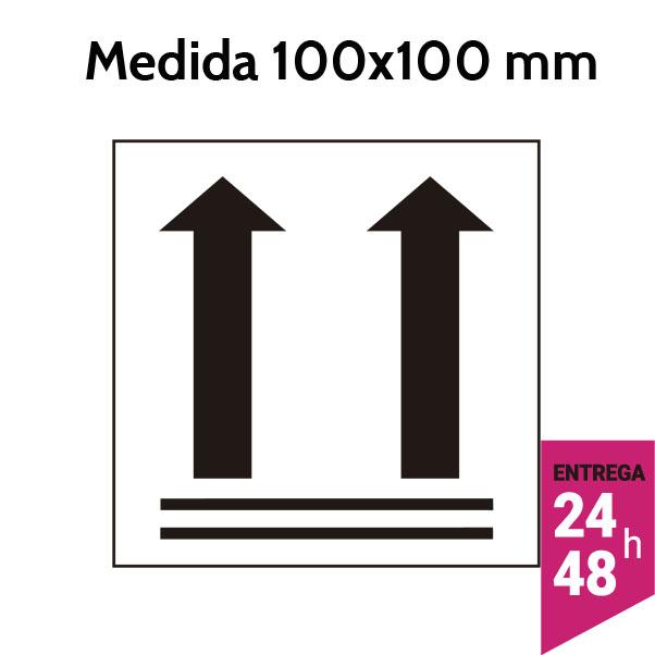 Etiquetas orientacion flechas verticales 100x100 mm - Etiqueting