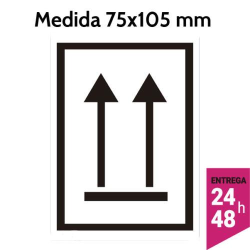Etiquetas orientación flechas verticales 75x105 mm - Etiqueting