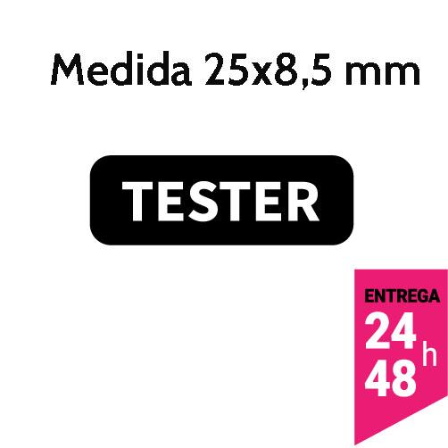 Etiqueta Seguridad Tester 25x8,5 mm - Etiqueting